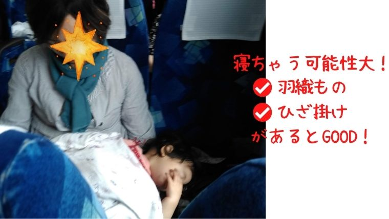 赤ちゃん高速バス・夜行バス膝掛羽織もの