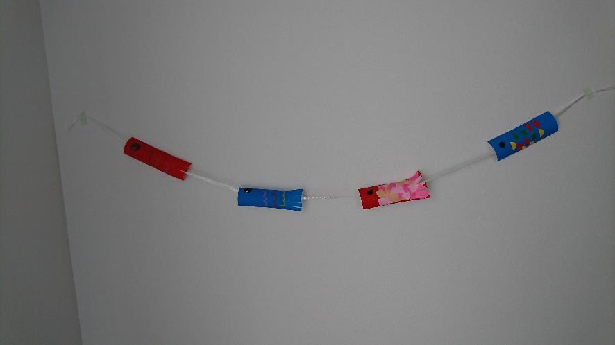 鯉のぼりスズランテープトイレットペーパーの芯①