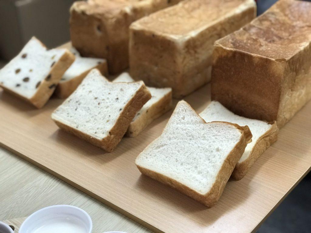 十八番麦蔵3種類の食パンたち